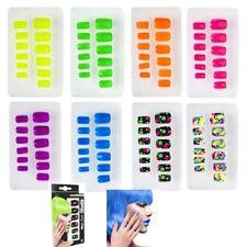 Unghie Adesive Colori Fluorescenti Accessorio Carnevale Fluo PS 26436