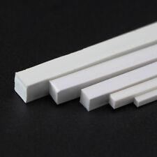 10pcs 250mm ABS Plastic Rod Square Solid Bar DIY Model Building Multi Sizes
