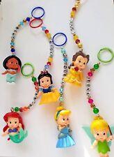 Personalised 3d Disney Princess keyring / bag charm (you chose name), 6 designs
