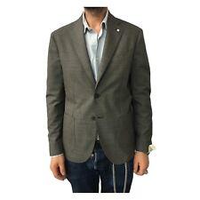 L.B.M. 1911 giacca uomo sfoderata pied de poule moro 100% lana mod 2869
