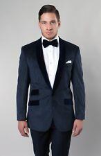 Men's Velvet Blazer One Button Sport Coat Tuxedo Suit Pattern Shawl Lapel Jacket