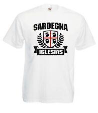 T-shirt Maglietta J1282 Bandiera Sardegna Iglesias Città Sarda