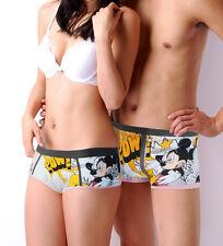 Disney Underpants Underwear Women Brief Couple Brief Boxer Mickey Whack! U-58
