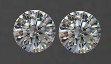 Moissanite White J-K Color Pair 0.80Ct TO 2.38Ct VVS1 Brilliant Round Cut 4 Ring