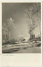 CARTOLINA 1937 la fata bianca paesaggio innevato neve