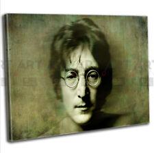 John Lennon Portrait Canvas Print Framed Music Icon Wall Art Picture