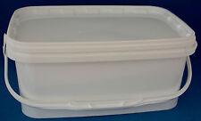 4400ml Bianco in Plastica vasche prova di manomissione con Coperchi e maniglie (1-5 Multi Inserzione)