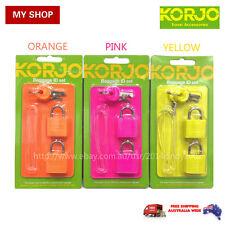KORJO BAGGAGE ID SET 1 LUGGAGE TAG + 2 LOCKS + 2 KEYS--SMART, BRIGHT ID04