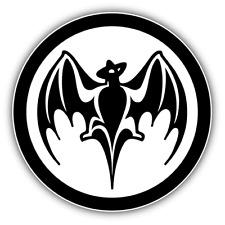 Bacardi Bat Logo Drink Car Bumper Sticker Decal - 3'' or 5''