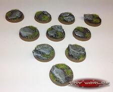 25mm round Rock / ardoise SCENIC résine bases warhammer 40 k