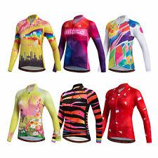 Women s Long Sleeve Cycling Jersey Top Reflective Ladies Bike Cycle Jersey  Shirt 8ef27293e
