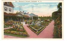1927 postcard-Geo. Eastman's Gardens, Rochester, N.Y.