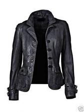 New Women's Genuine Lambskin soft Leather Motorcycle Slim fit Biker Jacket TW91