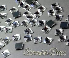 Hotfix DMC Quadrat CRYSTAL  8x8 mm Stückzahl wählbar  Glas Formen Strasssteine