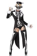 Women's Costume Voodoo Witch Halloween Skeleton Carnival Gr XS S M L XL XXL 258