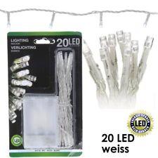 Guirlande lumineuse LED 10 ou 20 blanc blanc chaud multicolore éclairage NEUF