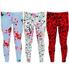Para Niños Leopardo Flor Floral Casual Comfy Stretch Pantalones Crepe Leggings