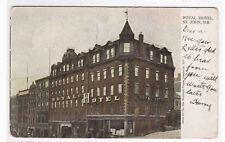 Royal Hotel St John New Brunswick Canada 1907 postcard
