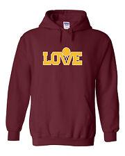 """Kevin Love Cleveland Cavaliers """"Love MAROON"""" jersey Hooded SWEATSHIRT HOODIE"""