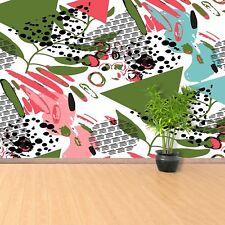 Photo sur papier peint Préencollé Amovible Réutilisable Feuilles abstraites