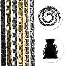 Cadena Rey o 1 pulsera Collar de acero inoxidable 22-120cm Oro Plata negro