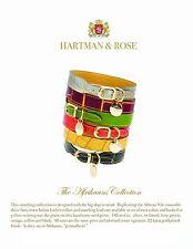 Collier de chien de HARTMAN & Rose - SNAKESKIN cuir de serpent