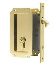 FPL Manor Pocket Door Mortise Lock with Single Keyed Cylinder- Multiple Finishes