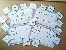 TIMES TABLE LOTTO / BINGO - LEARN 6X - 12X - FUN LEARNING RESOURCE - 6 PLAYERS