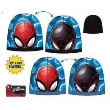 Oficial Marvel Infantil Spiderman Dibujos Reversible Invierno Gorro de Esquí