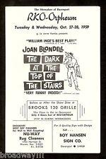 """Joan Blondell """"DARK AT THE TOP OF THE STAIRS"""" William Inge 1959 Davenport, Iowa"""