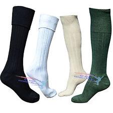 Mens 65% Wool Blend Traditional Long Hose Kilt Socks USA Seller