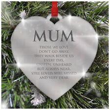 Corazón árbol de Navidad Decoración Navidad Personalizado Adorno Memorial Loving Memory