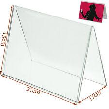 Nouvelle carte de MENU ACRYLIQUE show nom place table Cadre d'affichage tente stand holder