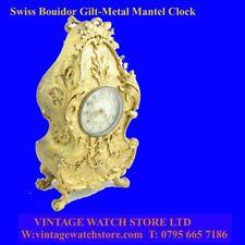 Mint Swiss Gilt Boudoir Mantle Ladies 8-Day Clock 1890