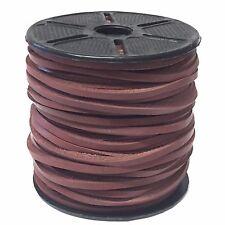 Cuero Marrón Claro/Cuadrado 3mm Cable de cadena de cuero joyería de encaje Thonging