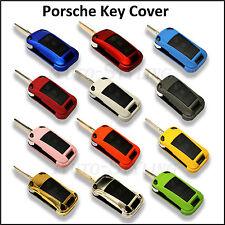 Cubierta de clave flip remoto para Porsche caso FOB Carcasa de protección de la piel bolsa casco Cap 44