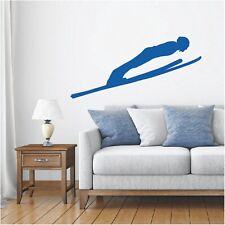 Schatten Wandtattoo Skispringen Skifliegen Wintersport Ski Sticker Wandaufkleber