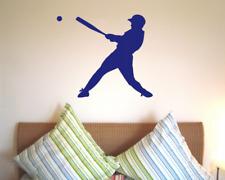 Wandtattoo Baseballspieler Batter Wandsticker 25 Farben 5 Größen Wandaufkleber