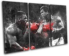 Dream Fight Boxing Ali Tyson Sports TREBLE CANVAS WALL ART Picture Print