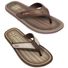 JMR006 Majorca Mens Faux Suede Leather Strap Backless Thong Mule Sandals