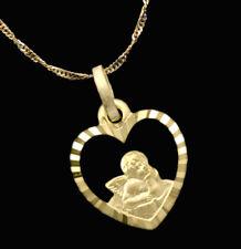 ECHT GOLD *** Herz Anhänger Engel Schutzengel, optional mit Kette