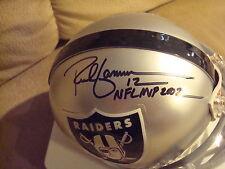 Rich Gannon AUTOGRAPH OAKLAND RAIDERS Mini Helmet SIGNED NFL MVP