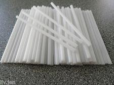 "6"" (150mm) WHITE HOLLOW PLASTIC LOLLIPOP STICKS - CAKE POPS - CRAFTS - SWEETS"