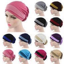 FX- Muslim Stretch Turban Hat Cancer Chemo Cap Hair Loss Headwrap Head Scarf Mys