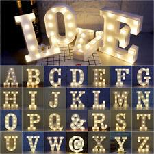 ALPHABET LETTER LED LIGHT UP NUMBERS WHITE PLASTIC LETTERS STANDING Sign Decor