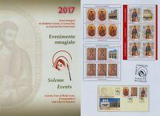 Rumänien 2017 Ereignisse,Kirche,Religion,Heilige,Gemälde,Ikone Mi.7292-94,Zf,KB