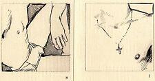 """Joe Brainard erotic art: """"gAy BCs"""" RARE"""