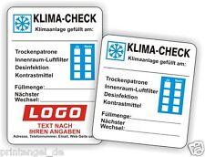 Klima - Check Service Aufkleber KFZ Inspektionsaufkleber Serviceaufkleber Art.12