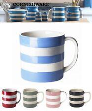 Cornishware Blue & White Stripe Sets of Coffee Cups Mugs, 4oz, 6oz, 10oz or 15oz