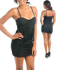 Women Black Bodycon Clubbing Party Gathering Dress Size 8 10 12 NEW